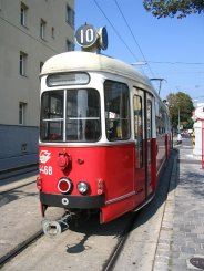 An old tram in Vienna