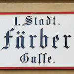 District and street sign