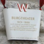 Burgtheater plaque