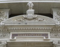 Shakespeare facade at the Burgtheater