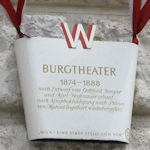 Burgtheater sign