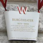 Burgtheater sign
