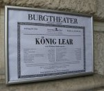 King Lear placard in German