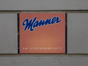 Manner sign in Vienna