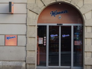 Manner shop, Stephansplatz, Vienna