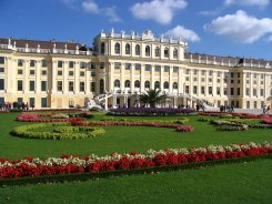 Schönbrunn palace from the rear