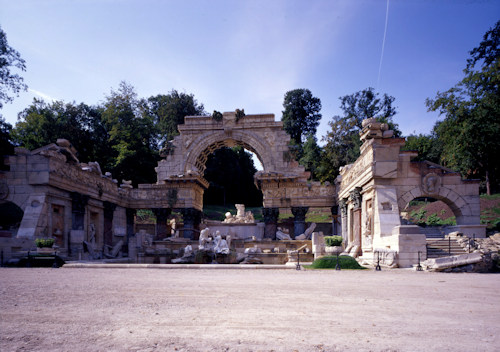 Front view of the Roman Ruins