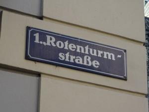 Street sign in Vienna