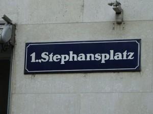 Street sign, Vienna