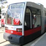 Modern tram in Vienna