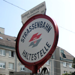 Sign at tram stop