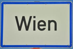 Wien city sign