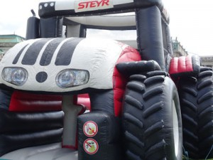 A bouncy tractor