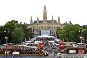 Rathaus Film Festival aerial view