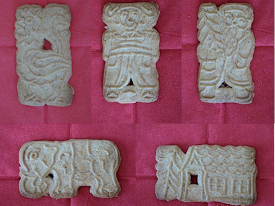 Various spekulatius biscuit shapes