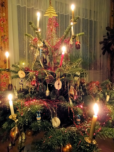 Christmas tree candles - Traditional Christmas Decorations In Vienna