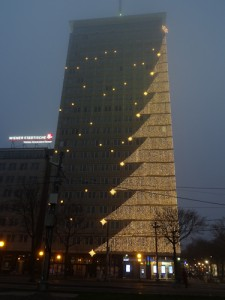 Ringturm Christmas tree, Vienna