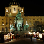 Christmas market and Maria Theresa monument
