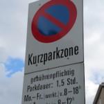 Kurzparkzone sign