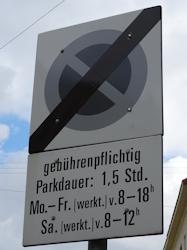 Kurparkzone end sign