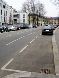 Street parking bays