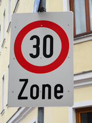 30kmh speed limit sign