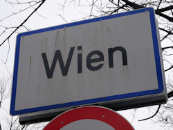Vienna city sign