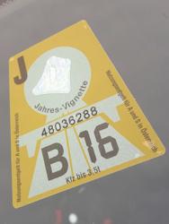 Austrian toll sticker
