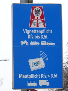 Austrian toll sign