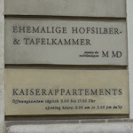 Hofburg tour entry sign