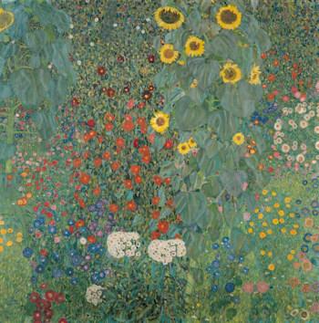 Gustav Klimt, Bauerngarten mit Sonnenblumen, 1908
