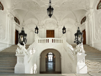 Grand staircase, Belvedere