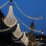 Christmas lights on the graben