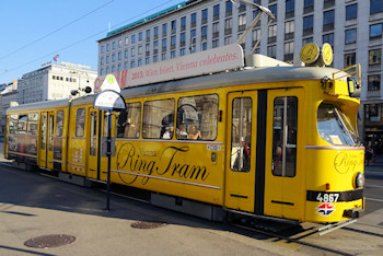 The yellow ring tram
