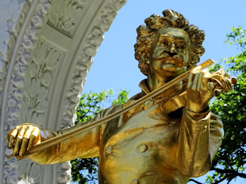 Golden Strauss statue
