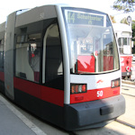 Front of a tram