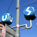 Subway and city train signs
