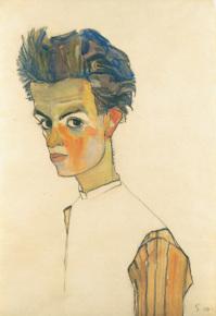 Schiele self-portrait