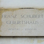 Schubert Geburtshaus plaque