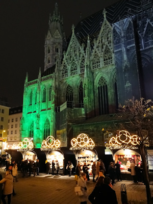Stephansplatz Christmas market view