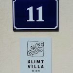 Klimt Villa sign