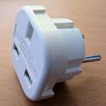 3-pin plug adaptor
