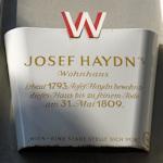 Haydn plaque
