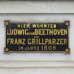 Plaque on Beethoven-Grillparzer house