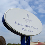 Augarten porcelain sign
