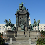 Maria Theresia monument from the art museum