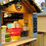 Cheese stand at the gourmet market