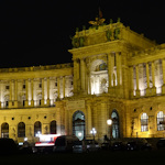 Neue Burg at night