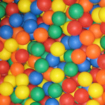 Coloured balls for kids