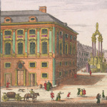 Old painting of the Hoher Markt